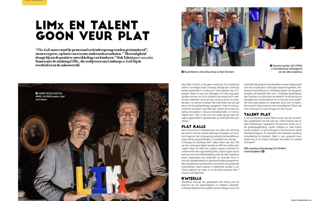 Artikel in Maggezien, glossy magazine van zorgbureau Talent. Met dank aan Marc Huijnen.